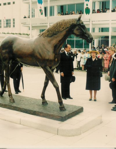 Generous Unvieled by HRH The Queen at Epsom Racecourse