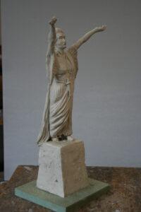 Sculpture of opera singer