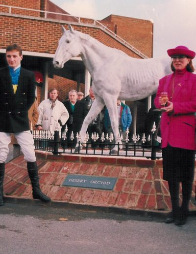 Desert Orchid at Kempton Park, UK